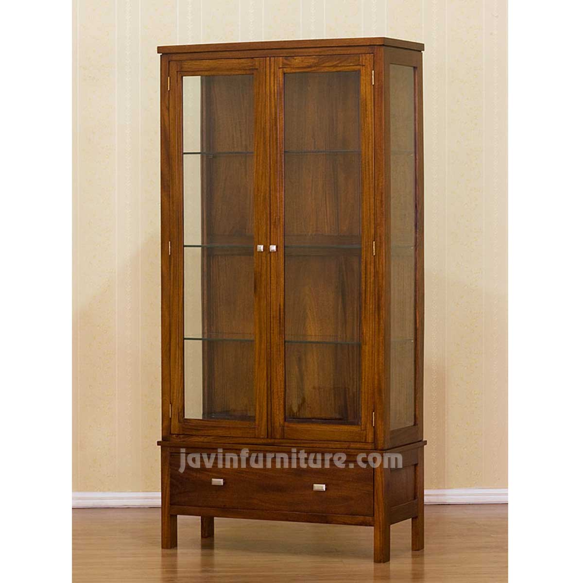 Wood Cabinets With Glass Doors