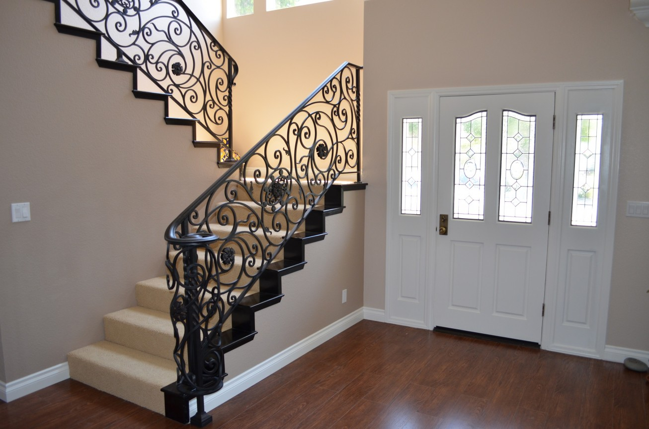 Wrought Iron Staircase Designs Wrought Iron Stair Railings For Creating Awesome Looking