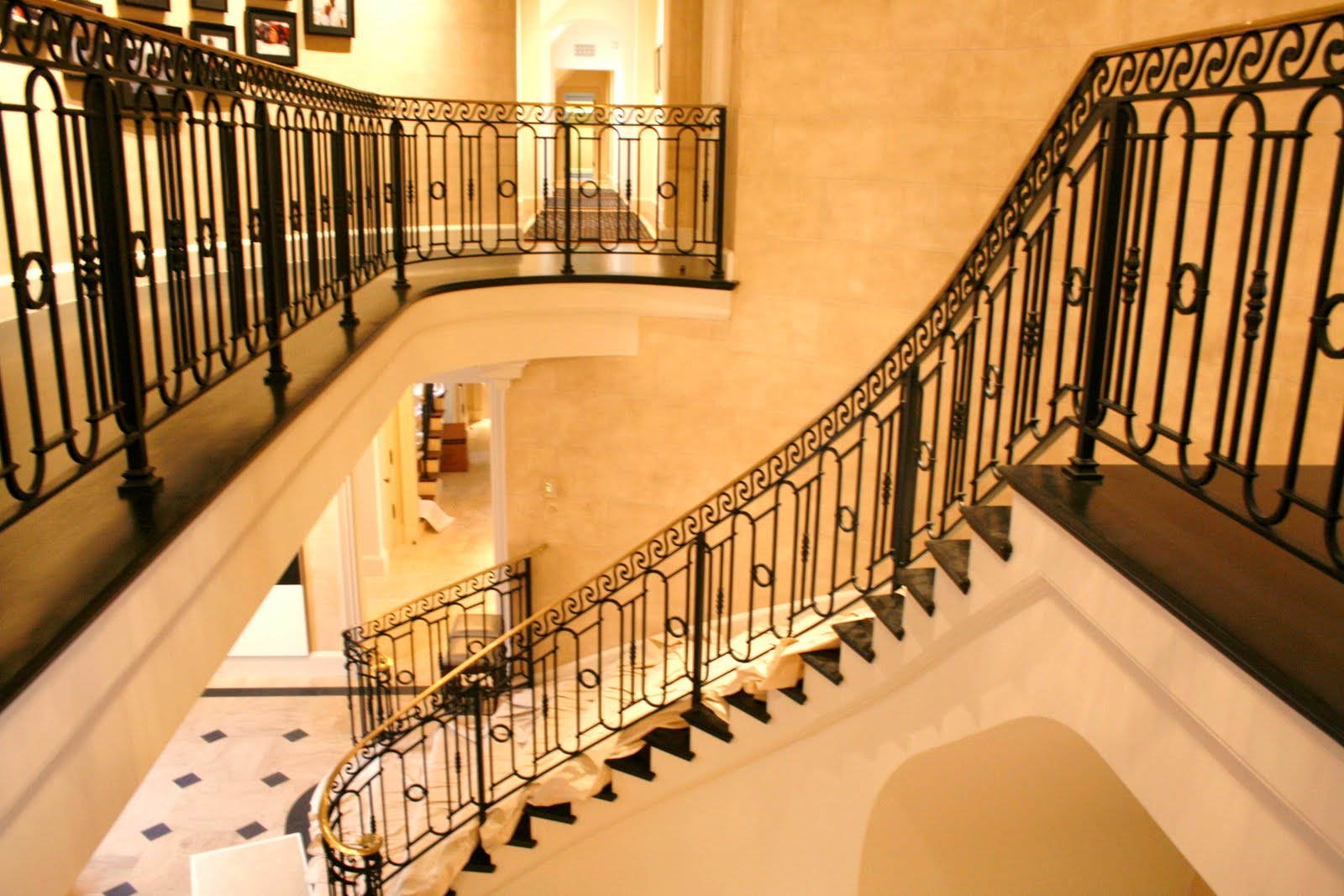Interior Staircase Designs Wrought Iron Stair Railings For Creating Awesome Looking