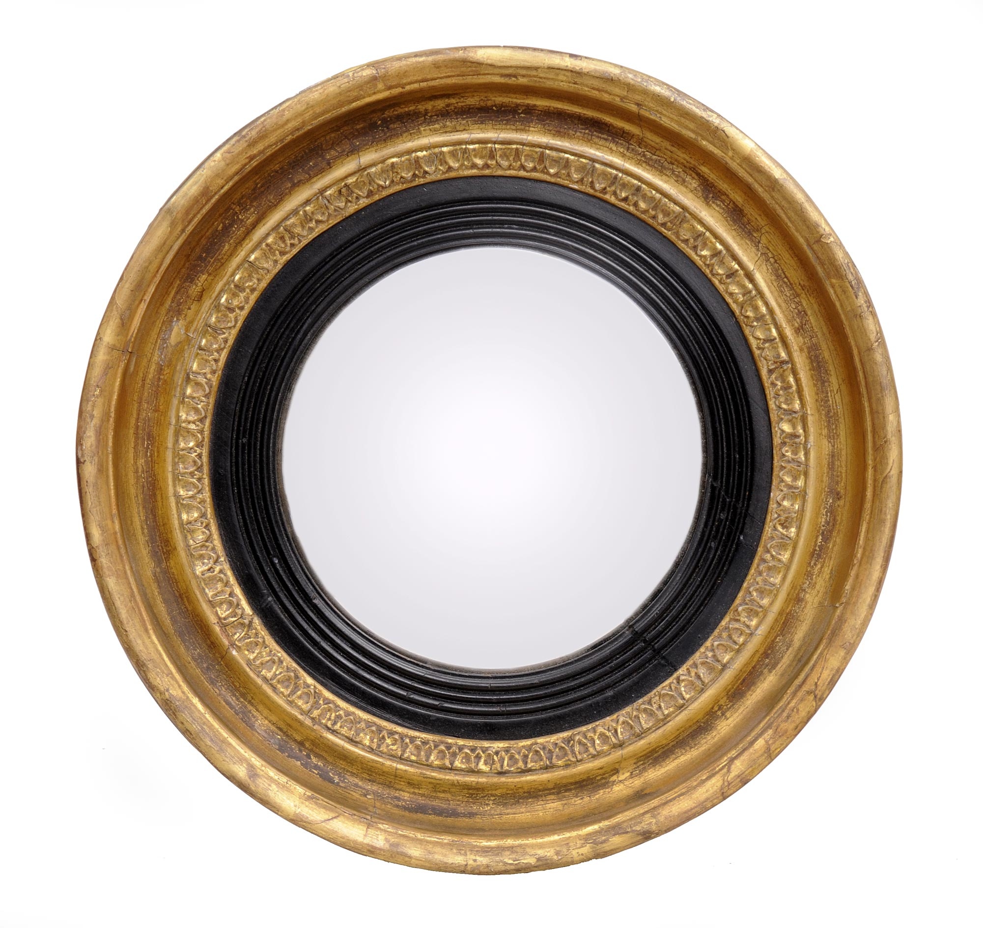 Small Gold Mirror Set Small Convex Mirror For Creating Striking Wall Decoration