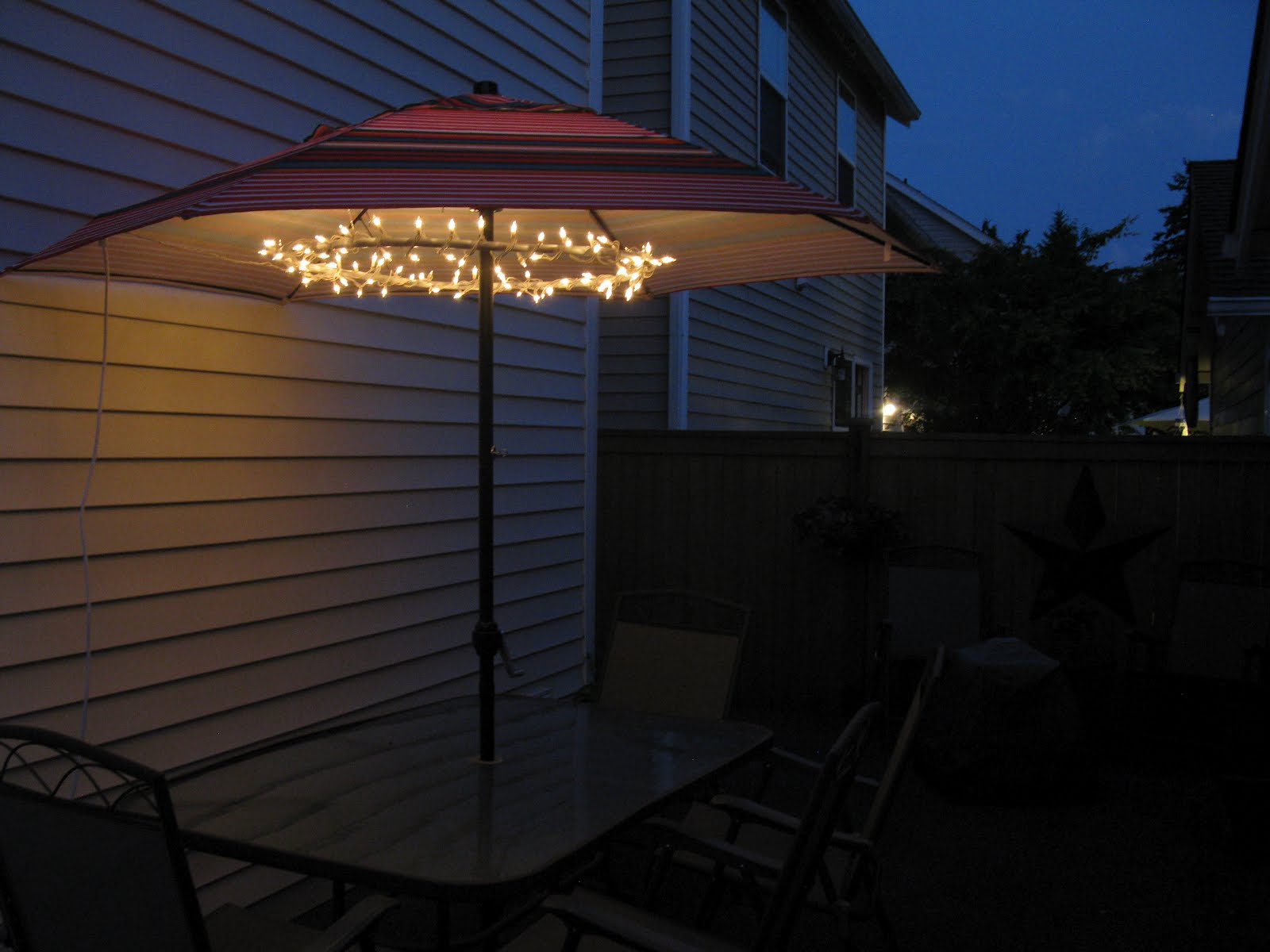 Lighted Patio Umbrella Providing An Amusing Nuance Homesfeed