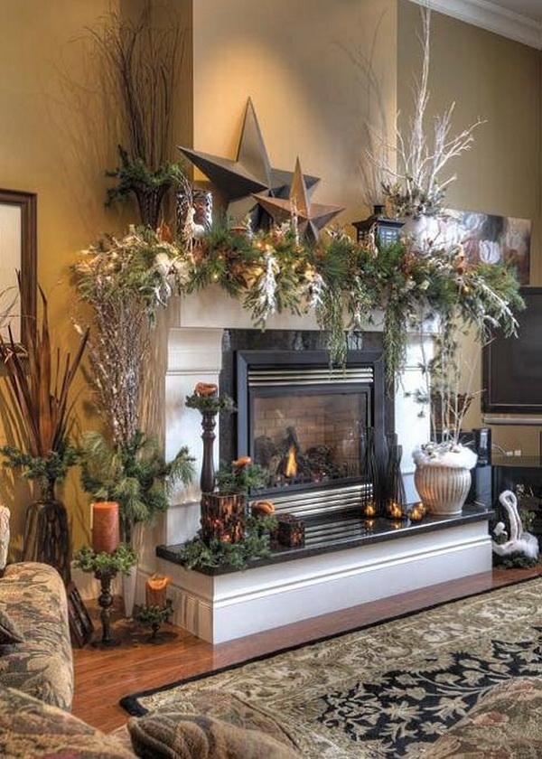 Christmas Decorations Mantel Shelf u2013 Home design and Decorating - christmas decorations for mantels