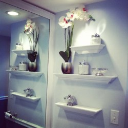 Small Crop Of Bathroom In Wall Shelves
