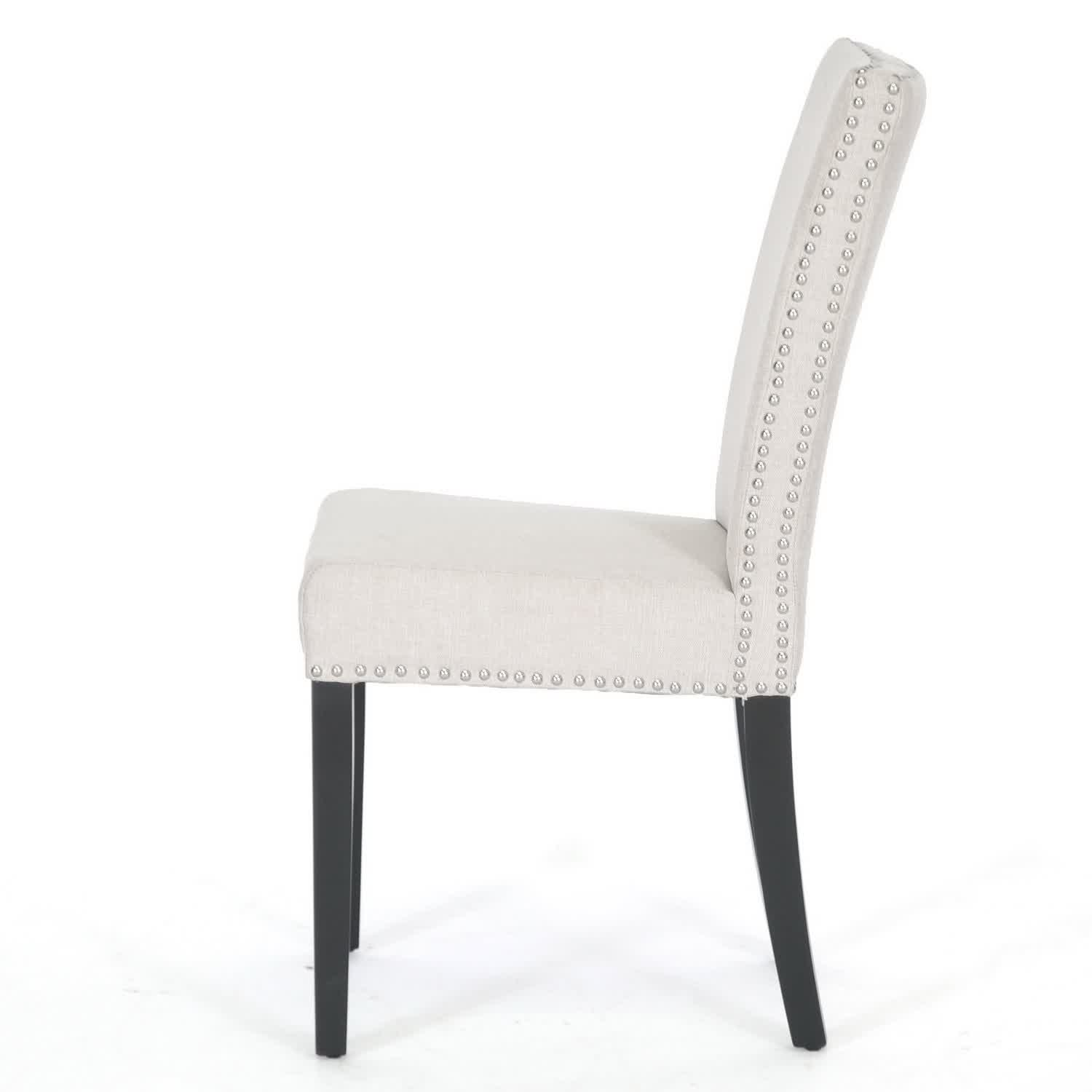 Upholstered Chairs For Dining Room White Upholstered Dining Chair Displaying Infinite