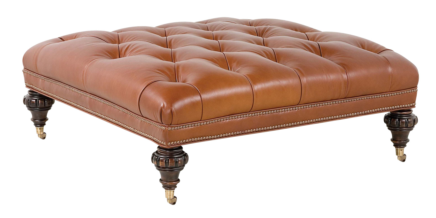 Brown Leather Coffee Table Ottoman Unique And Creative Tufted Leather Ottoman Coffee Table