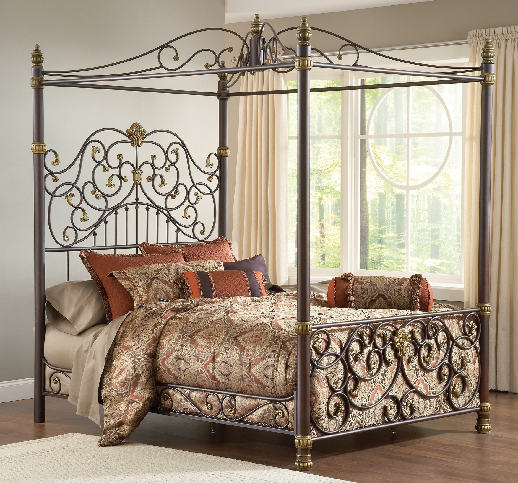 Canopy Bed Frame Elegant Iron Canopy Bed Frame Homesfeed