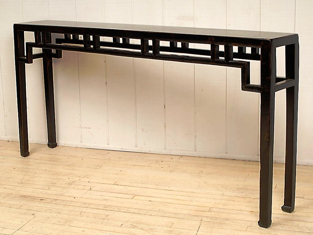 Long Narrow Wall Table Best Shallow Console Table Homesfeed