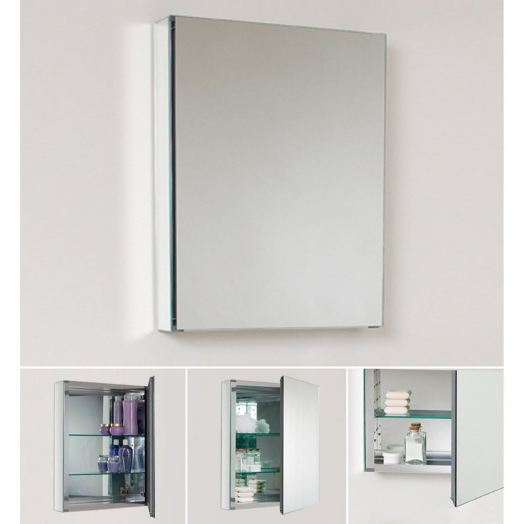 Mirrored Bathroom Cabinet Good Recessed Medicine Cabinet No Mirror Homesfeed