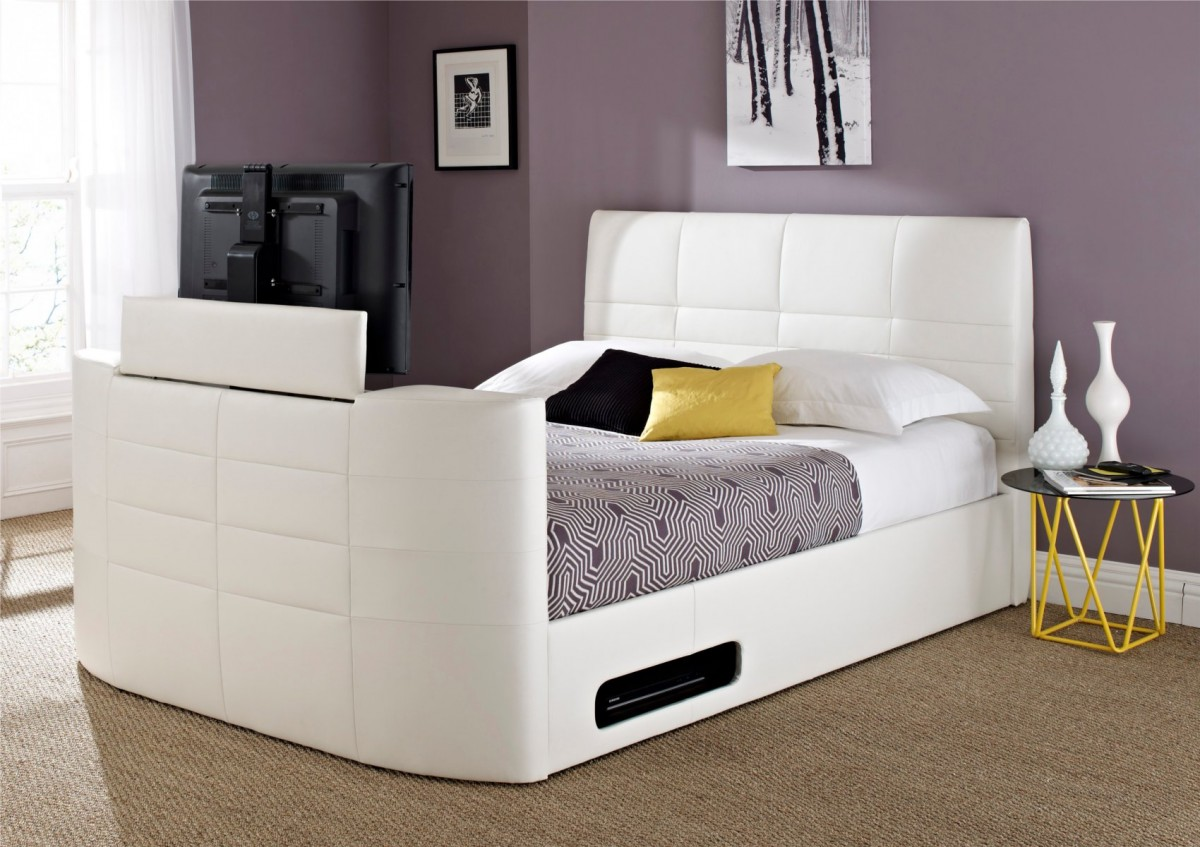 King Size Tv Bed Cool Beds With Built In Tv Homesfeed