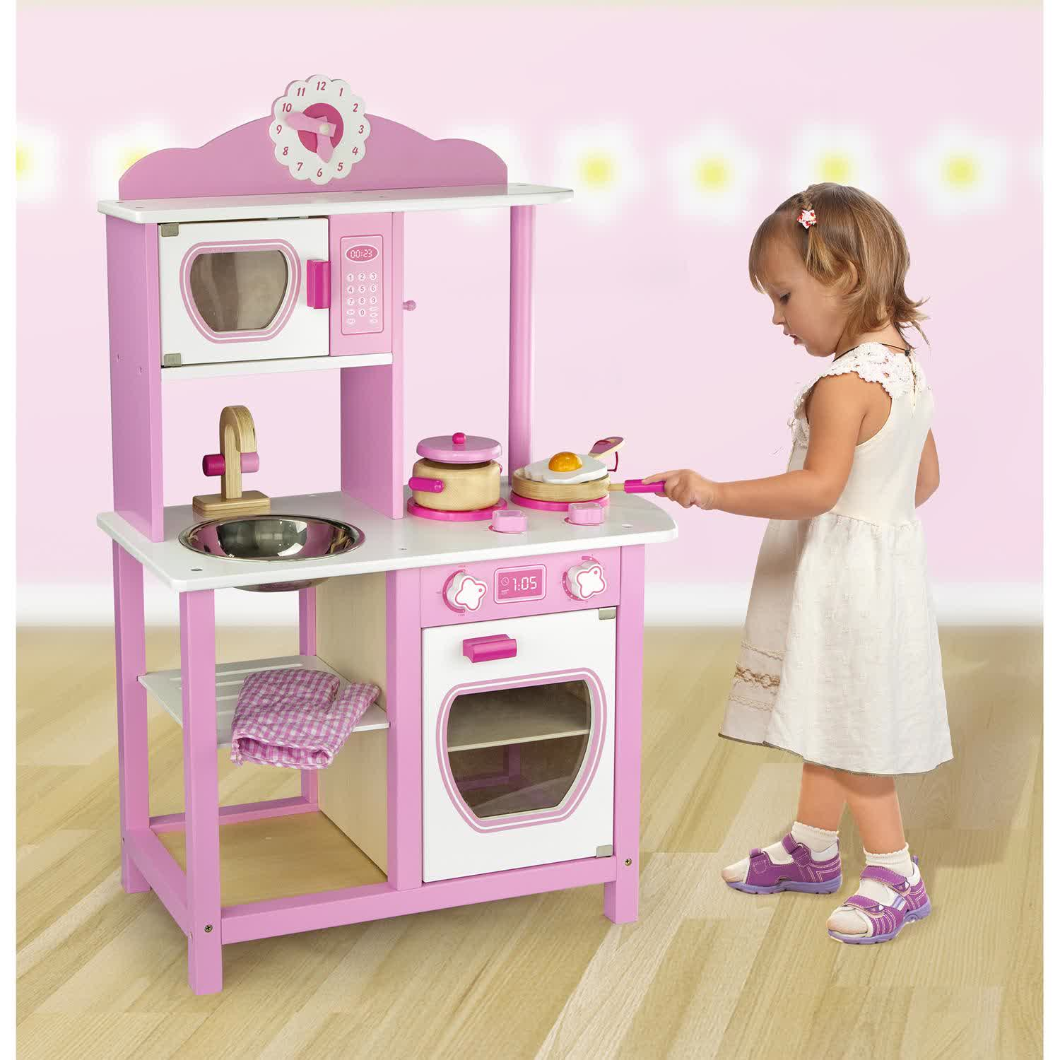 Childrens Toy Kitchen Wooden Toy Kitchens For Little Chefs Homesfeed
