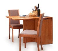 Adorable Drop Leaf Table with Chair Storage | HomesFeed