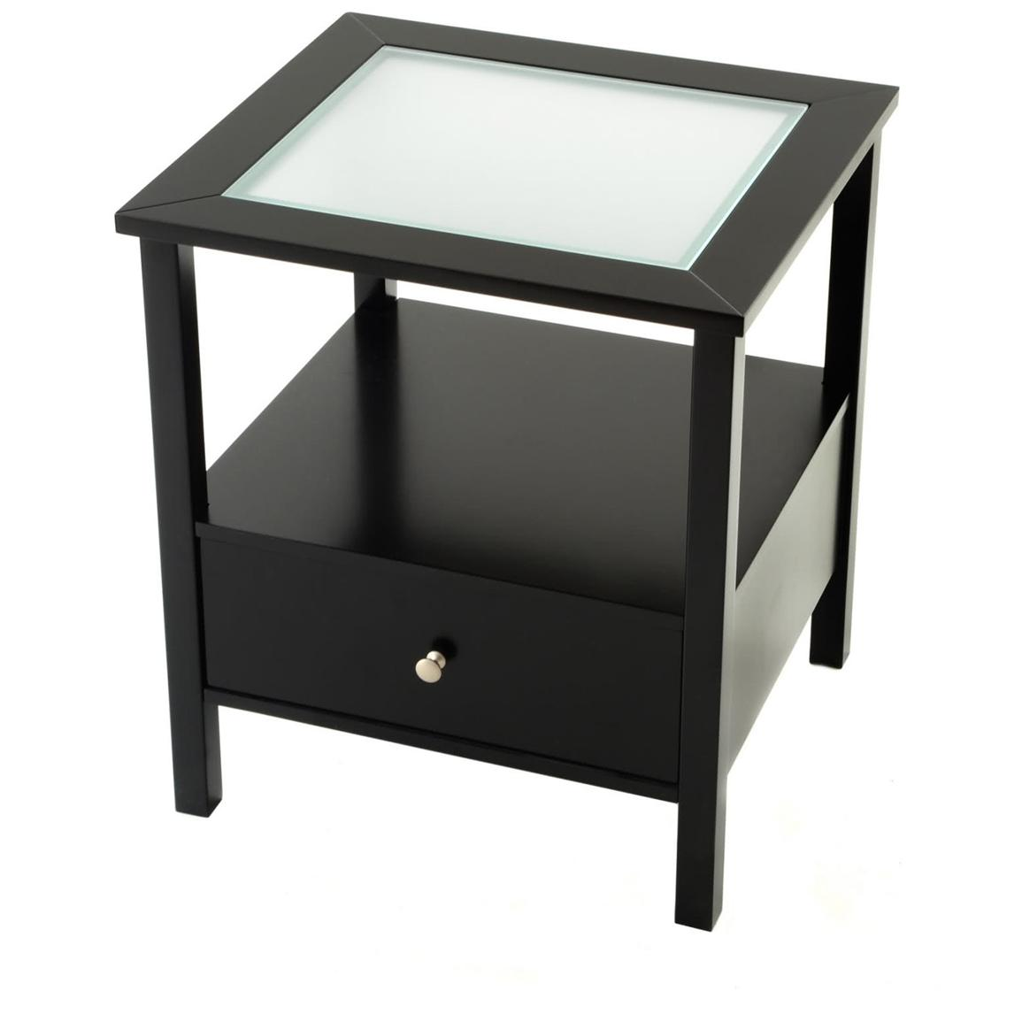 Small Black End Table Tall End Tables With Drawers