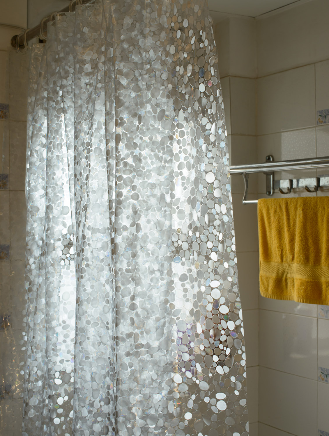 Awesome Clear Shower Curtain With Design