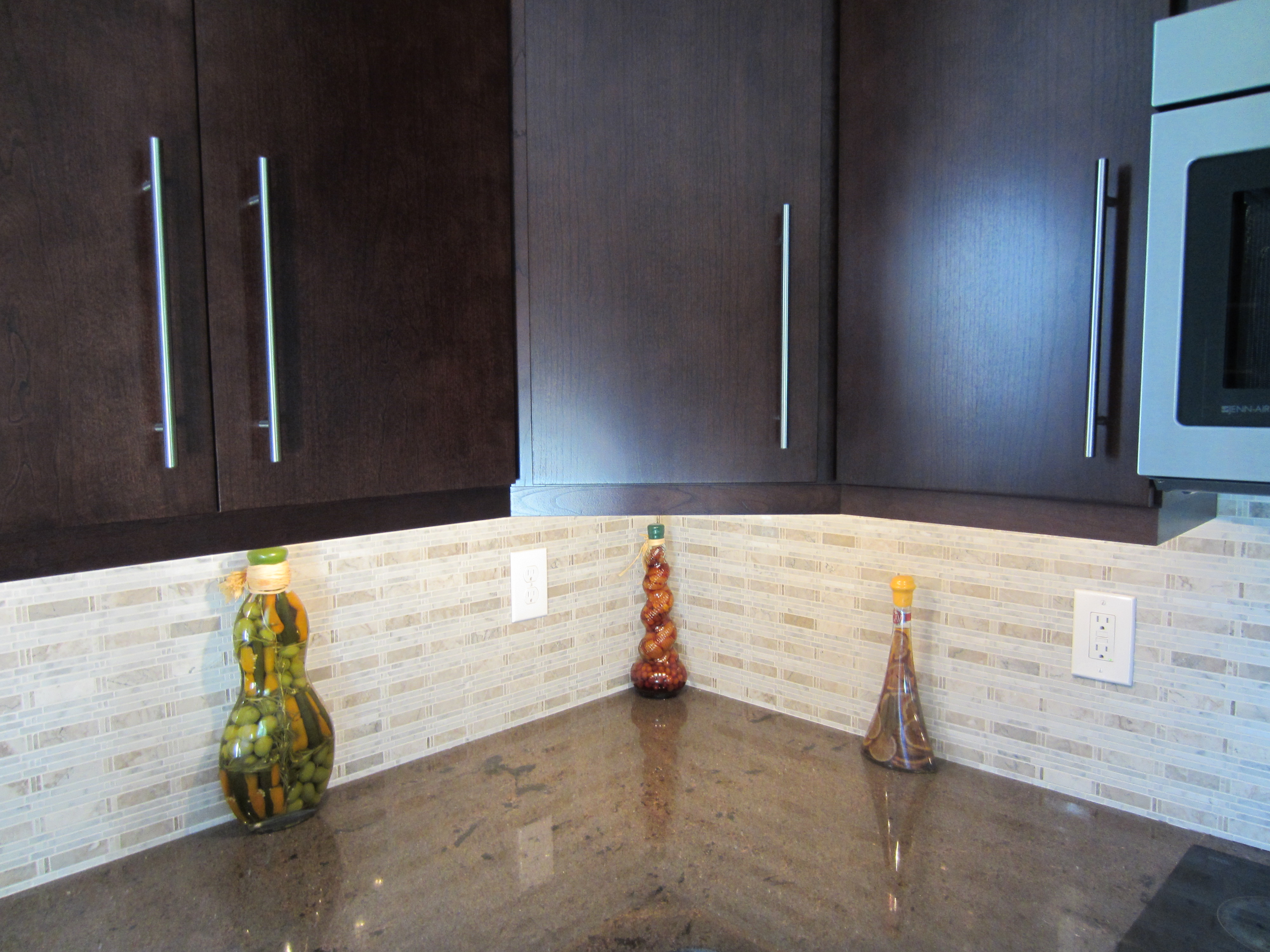 Bamboo Backsplash Carrara Marble Mosaic Tile Backsplash Tile Design Ideas