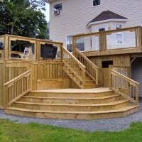 Best Wooden Patio Step Design Ideas