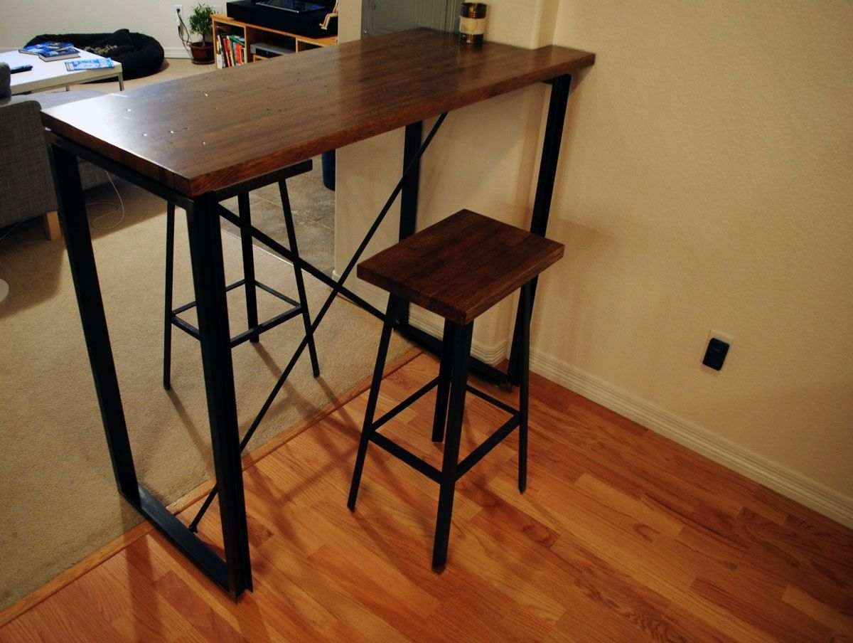 Small Industrial Side Table Industrial Pub Table Homesfeed