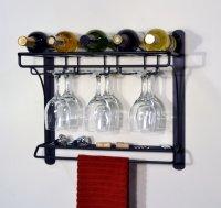 Cool Wall Mounted Wine Glass Holder | HomesFeed