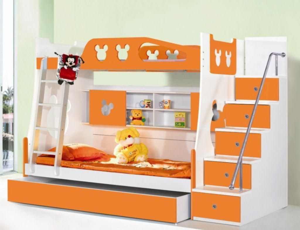 Bunk Beds With Storage Space Best Toddler Bunk Beds With Stairs Homesfeed