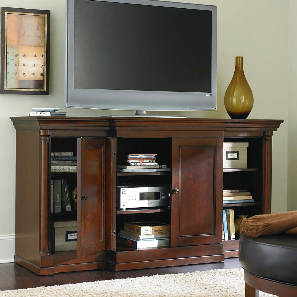 Console Cabinet Elegant Tall Media Chest | Homesfeed