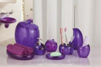 Complete Your Bathroom with Sweet Purple Bath Accessories ...