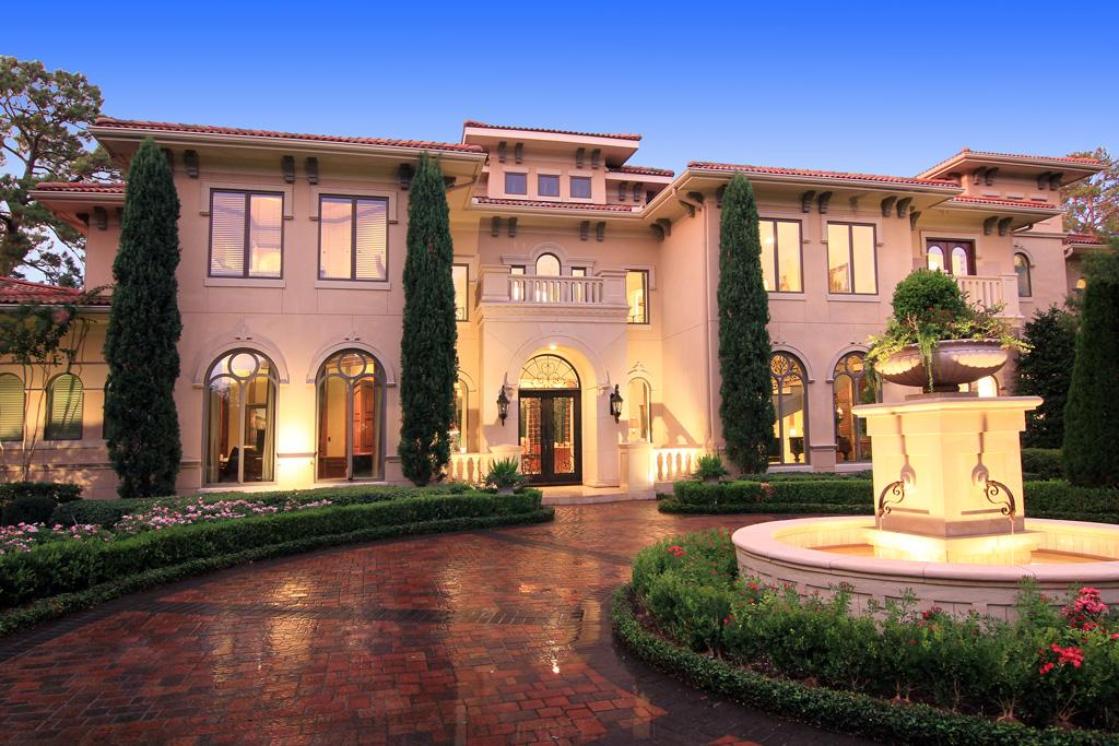 Cheap 3d Brick Wallpaper Newly Listed Gated Tuscan Mansion In Houston Tx Homes