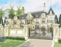 Renderings Of A French Chateau In Nigeria By DAlessio ...