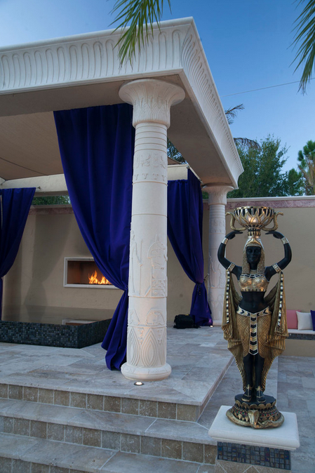 Modern Fireplace Screen Awesome Egyptian Themed Swimming Pool | Homes Of The Rich