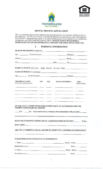 Rental Application Rental Application Form Ultramodern Impression