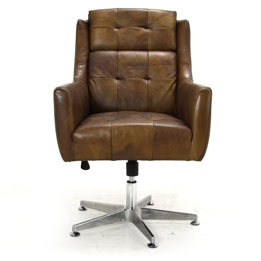 Saddle Office Chair Jaxon Swivel Desk Chair Saddle Leather