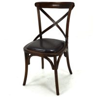 Lara Walnut Leather Dining Chair - Home Source