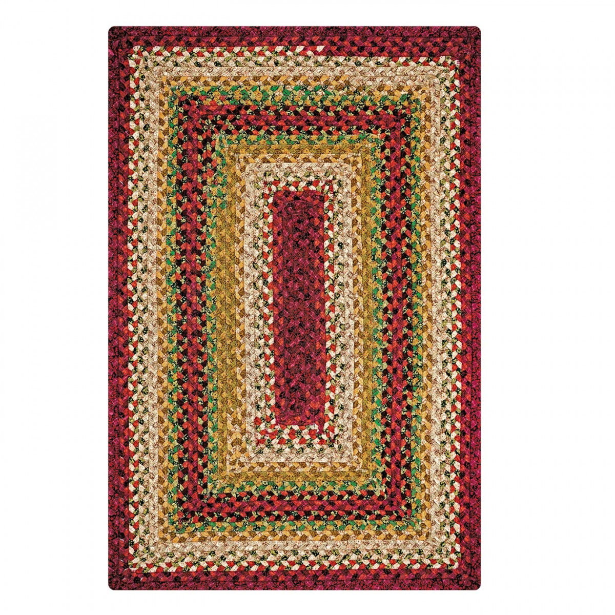 Online Rugs Buy Santa Fe Sunrise Multi Color Cotton Braided Rugs
