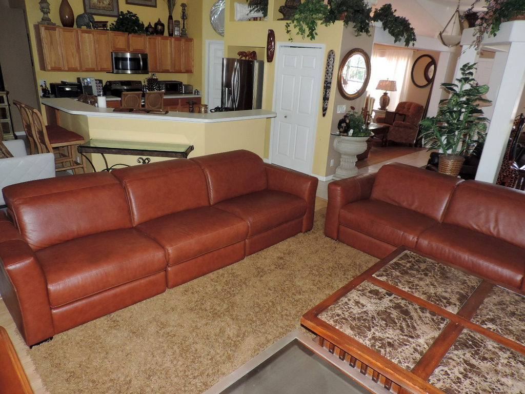 Macy S Nicolo Cognac Leather Quintuple Electric Reclining Sofa Amp Loveseat Set