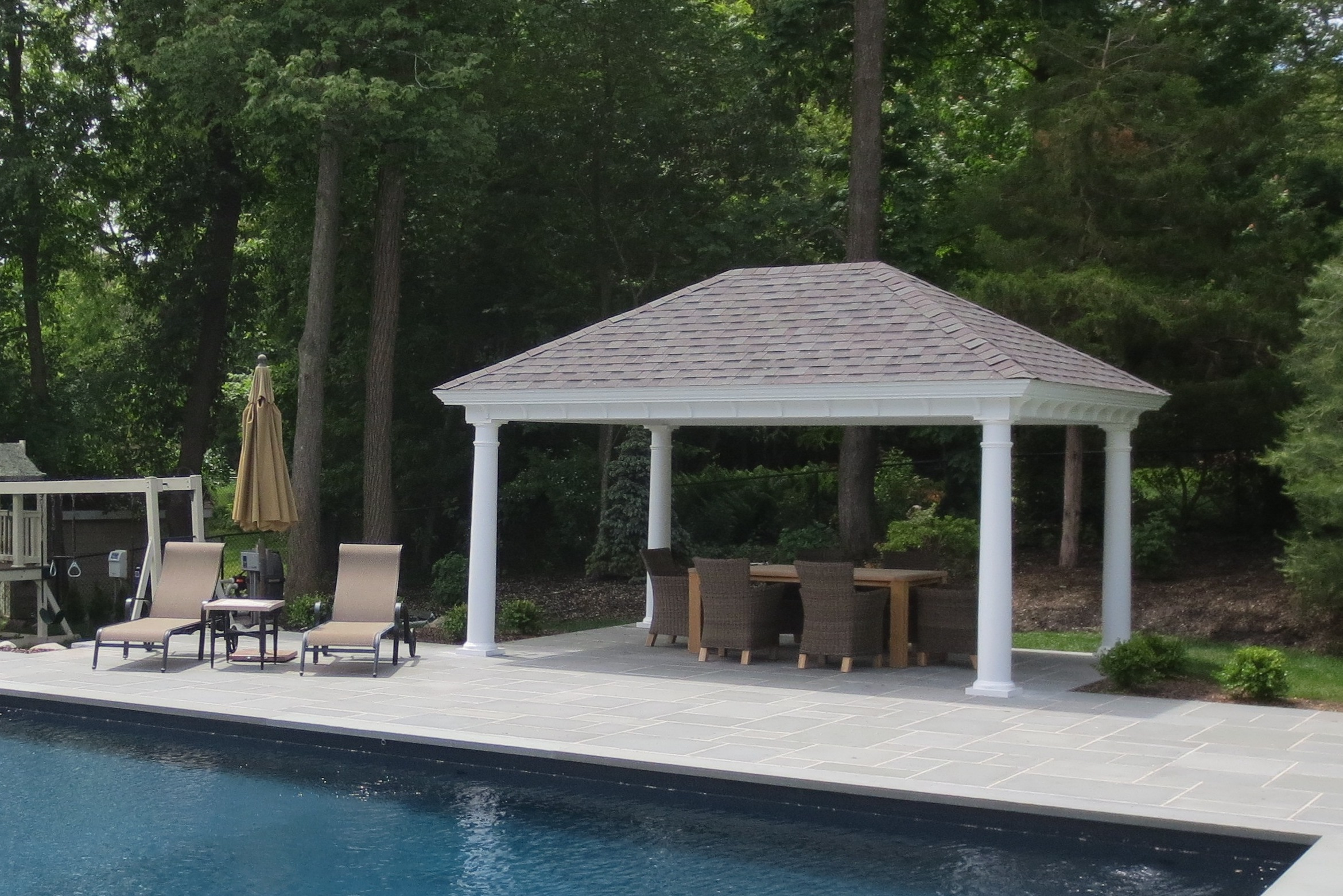 Pool Pavilion Outdoor Pool Pavilions - Custom Vinyl & Timber Frame - Pa