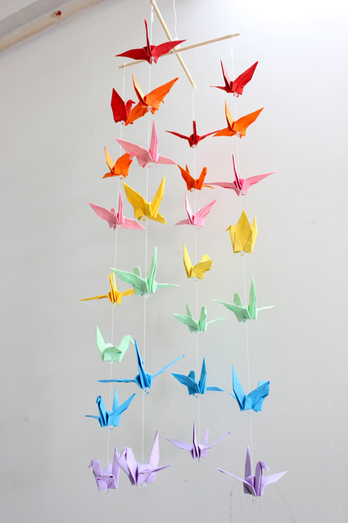 Guide on how to create a colorful rainbow diy crane curtain detailed - Guide On How To Create A Colorful Rainbow Diy Crane