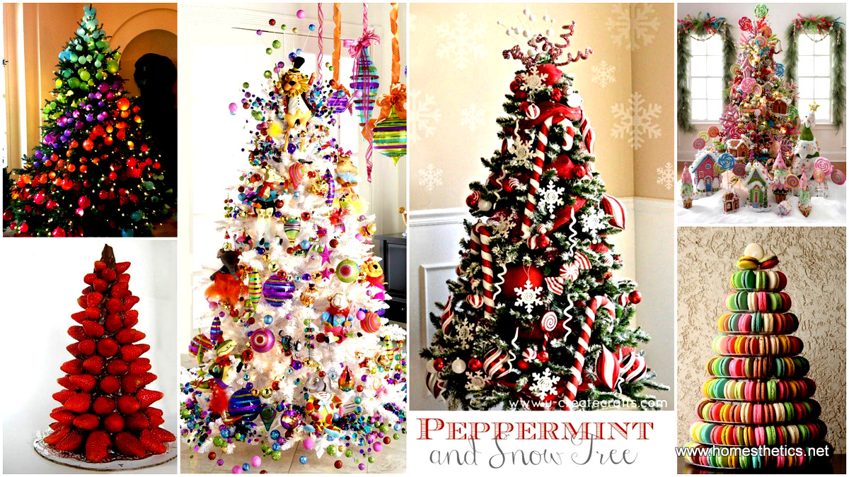 The most colorful and sweet christmas trees and for 2014 christmas decoration