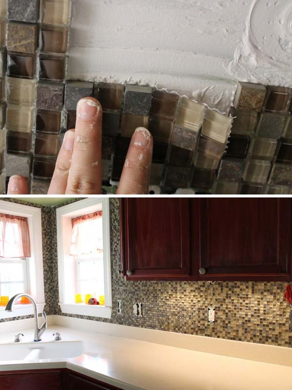 24 cheap diy kitchen backsplash ideas and tutorials you Cheap backsplash ideas