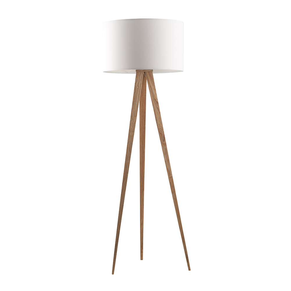 Staande Lamp Hout Zuiver Tripod Wood Lamp Driepoot Hout Stalamp