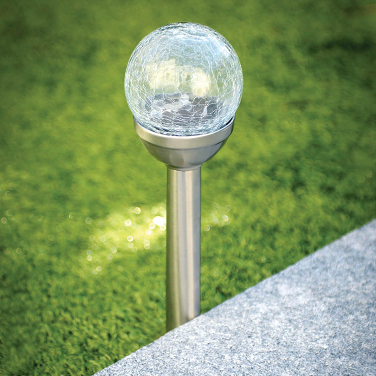 Solarlicht Garten Crackle Ball Post Solar Light Home Store 43 More