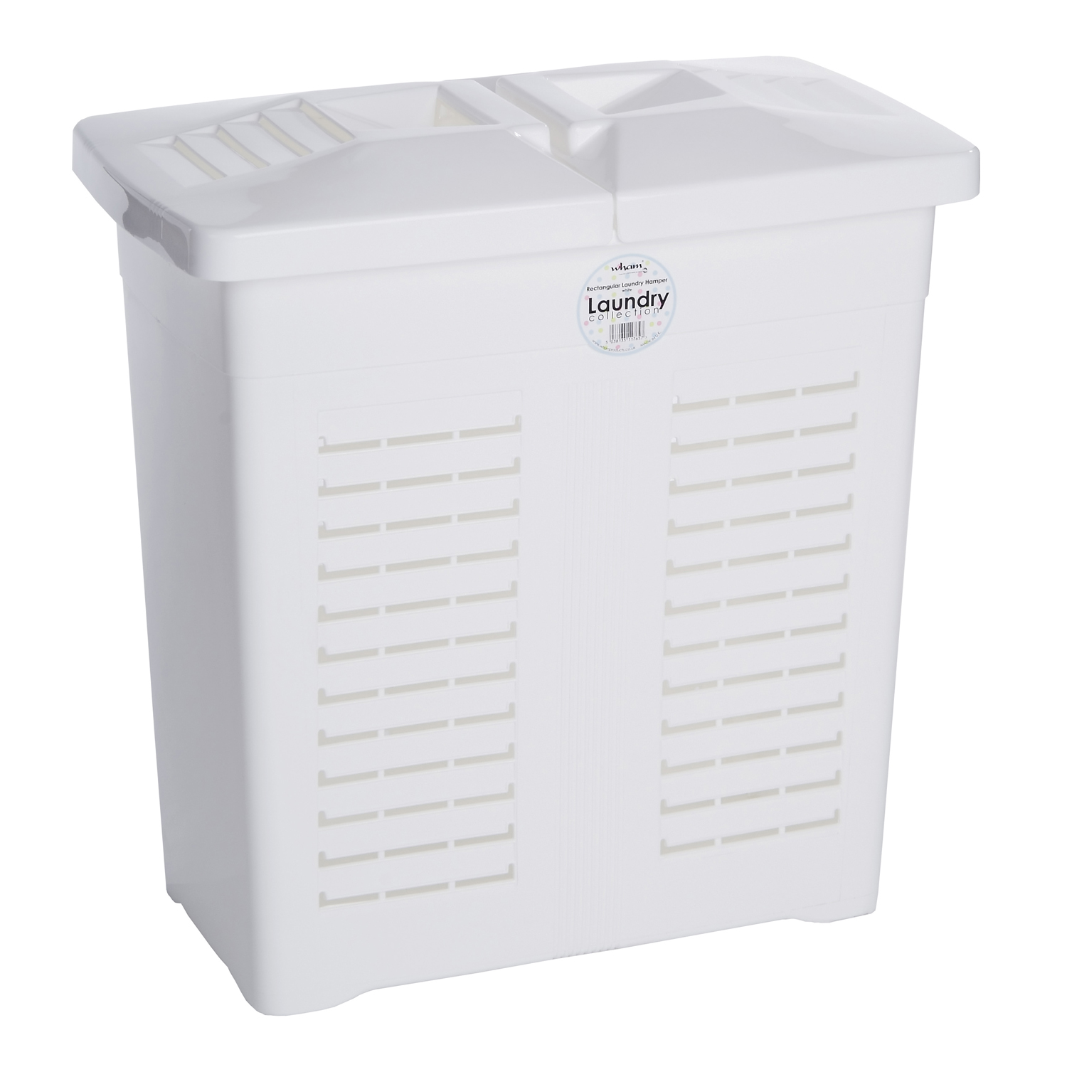 White Laundry Hamper With Lid Double Lid Hamper White Home Store 43 More