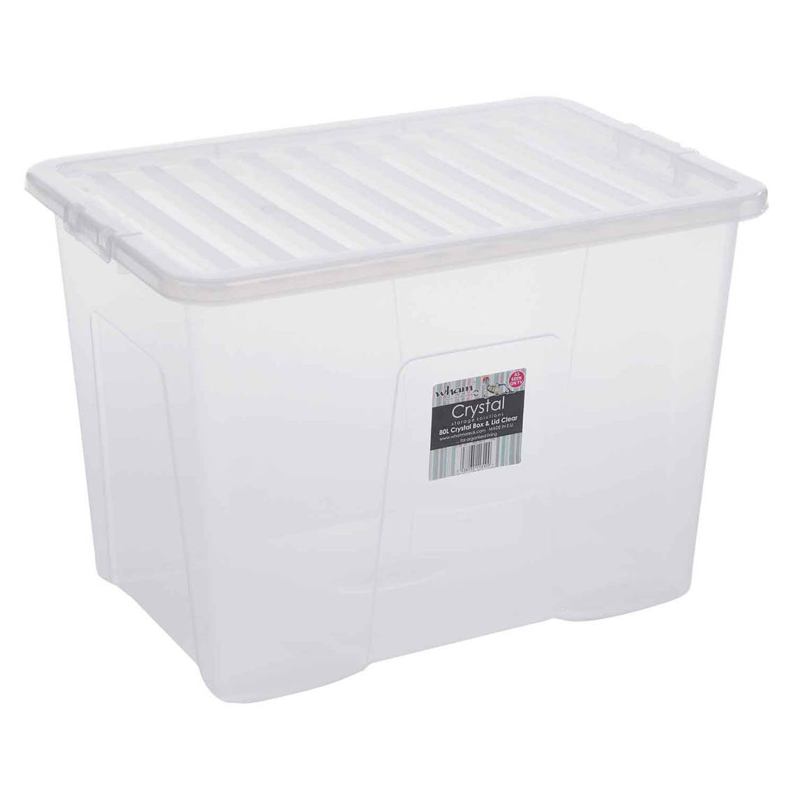 Clear Box Crystal Box And Lid Clear 80l Home Store 43 More