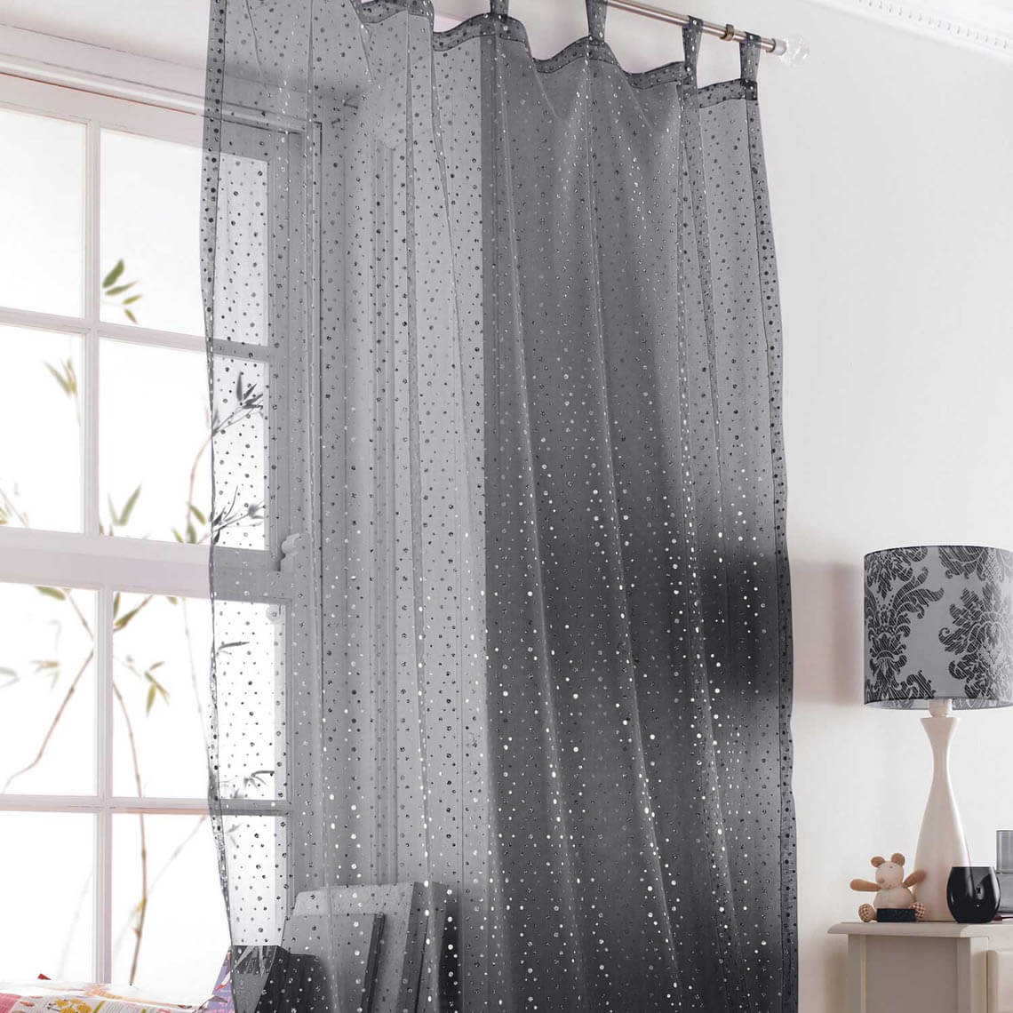 Black Voile Curtains Popsical Black Voile Curtain 043137