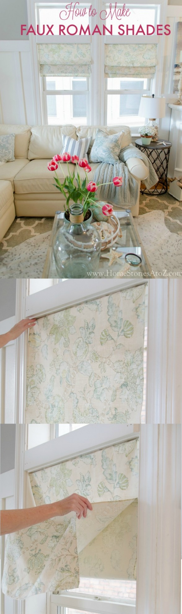 Diy Roman Shades Easy How To Make Faux Roman Shades