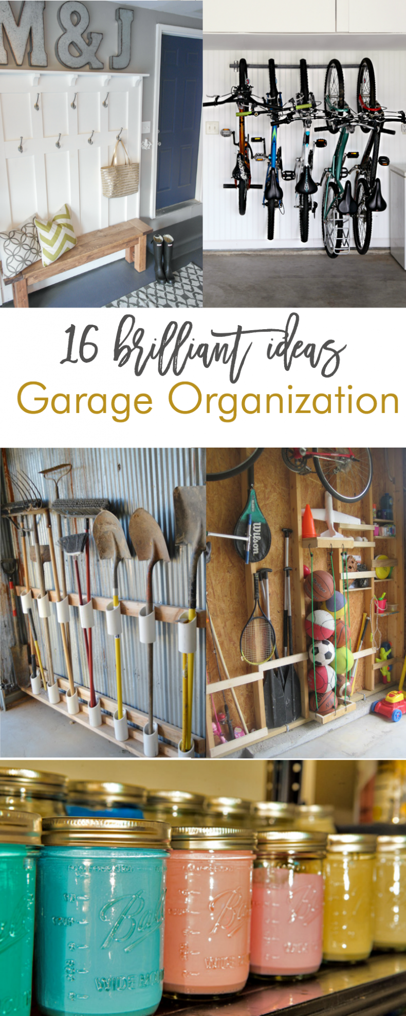 Garage Shelving Design Ideas 16 Brilliant Diy Garage Organization Ideas