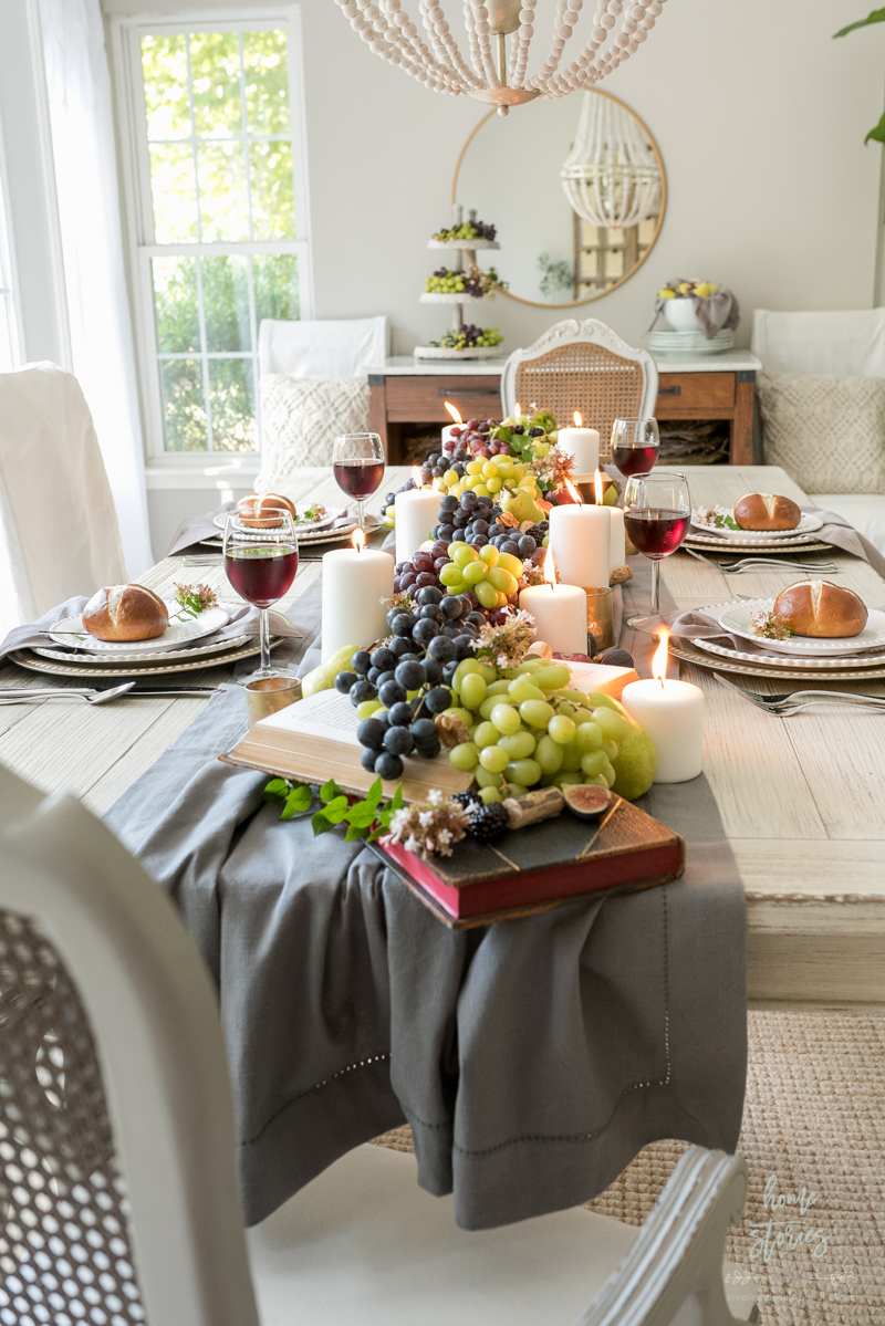 Beautiful And Bountiful Early Fall Tablescape