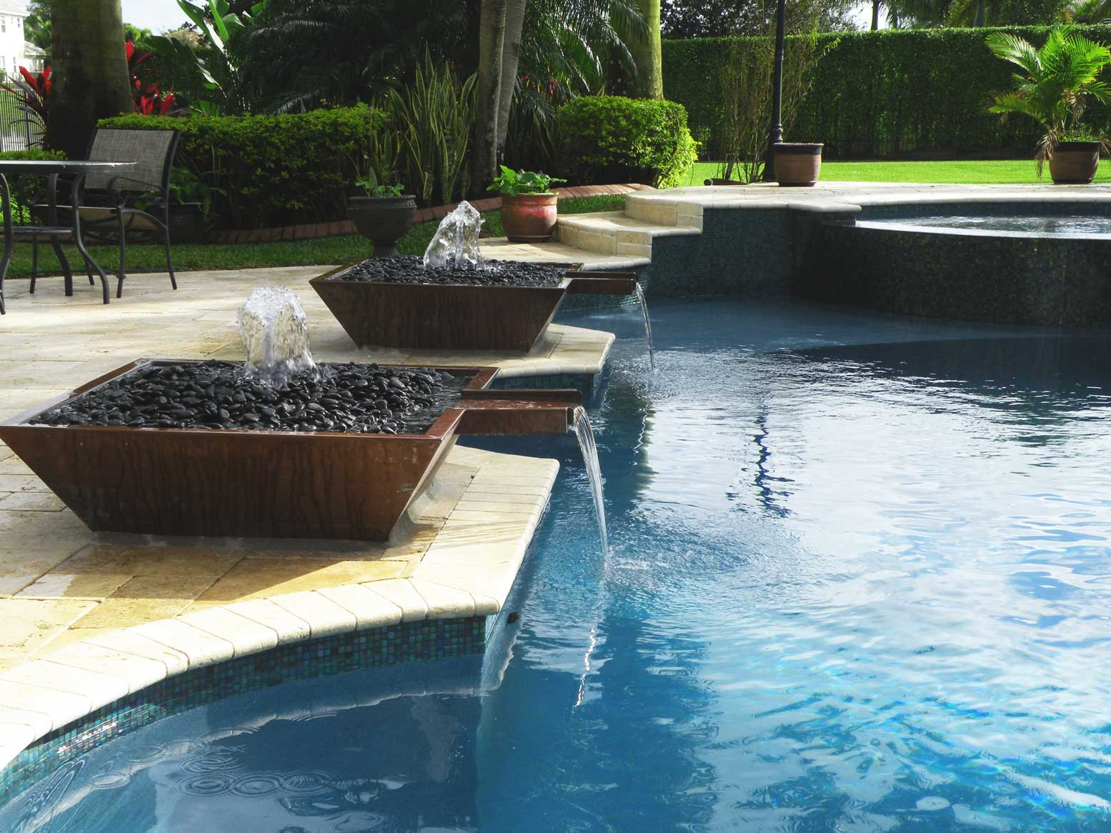 Outdoor Swimming Pool Water Fountain Design Ideas Home Trendy