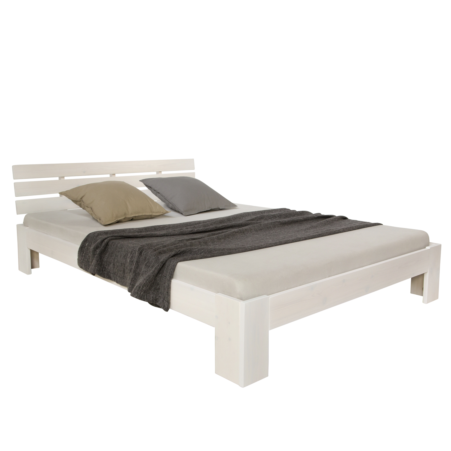 Couchtisch Weide Double Bed 140x200 Solid Pine Wooden Frame Bed