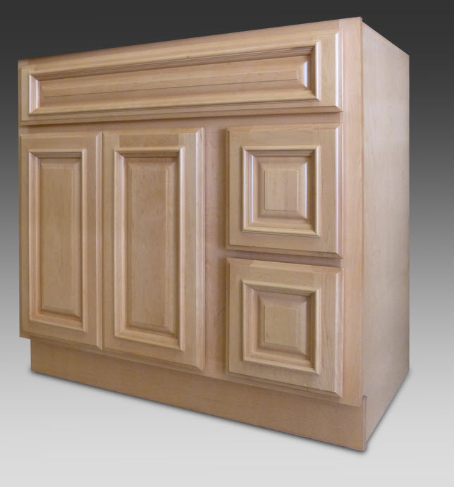White Shaker Doors For Kitchen Cabinets With Oak Trim Beacon Hill Vanity 36w-21d 2-door 2-drawers: Home Surplus