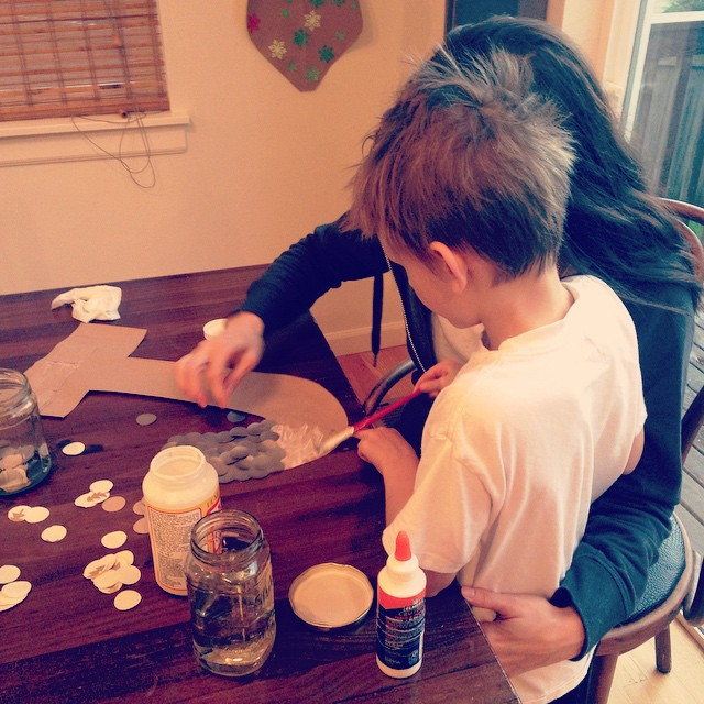 Crafting with this one makes my heart glad! qualitytime motherson