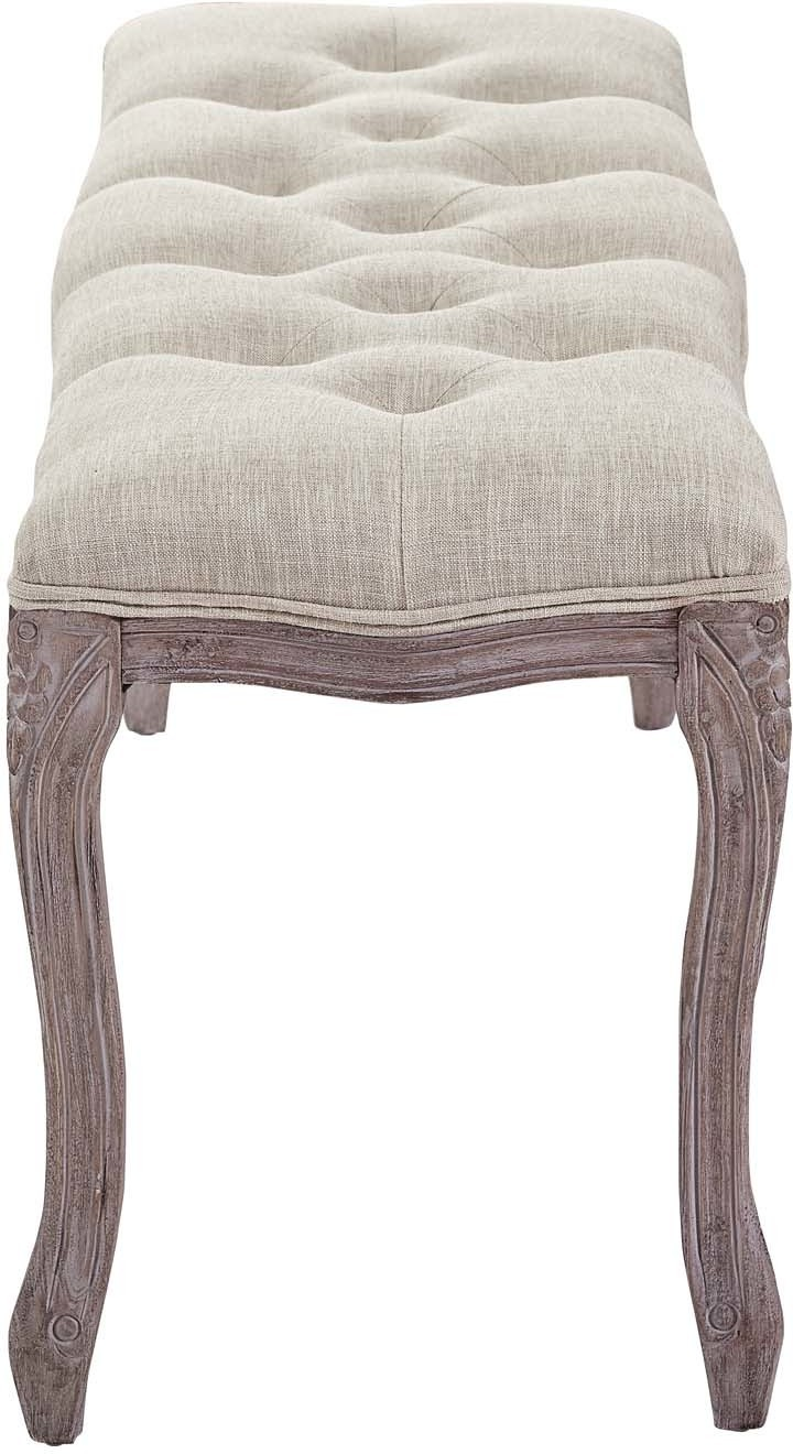 Regal Vintage French Upholstered Fabric Bench Modway Furniture Eei 2794 Bei Modway Furniture Eei 2794