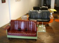 Green Homes: Fridge Couch made up of vintage refrigerators ...